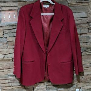L.L.Bean wool coat size 14 R